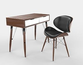 Mid Century Modern Desk and Chair 3D model