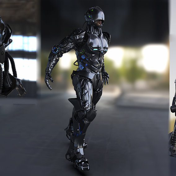 CyborG Robot Techno - Concept Model - Realistic Render - Pipeline Videos