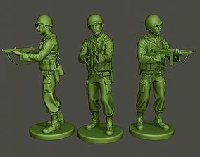 3D print model American soldier ww2 Shoot middle A2