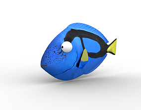 Dory from Nemo - Cartoon Fish - Rigged 3D model