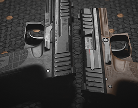 3D asset PMS KG19 Pistol and Knife - Models and Textures