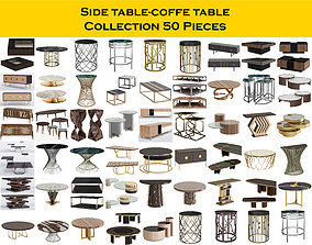 Side table-coffe table Collection 50 Pieces 3D