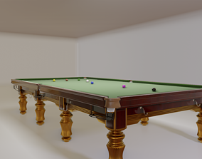 High Quality Detailed Snooker Tournament Table 3D model