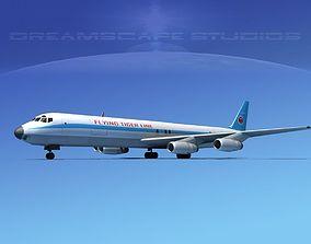 Douglas DC-8-63F Flying Tiger Line 3D