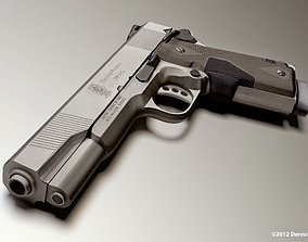 45 ACP Smith and Wesson Gun Model Lowpoly 3D asset