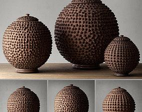 AFRICAN LOBI POT COLLECTION 3D model