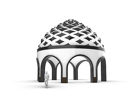 3D Dome Temple Diamond Pattern