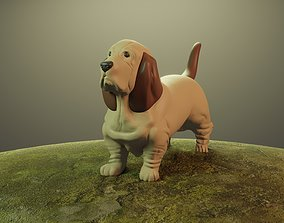 DOG BASSET HOUND 3D print model