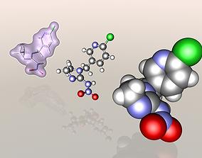 Imidacloprid molecule 3D model