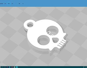 cute skull keychain 3D print model
