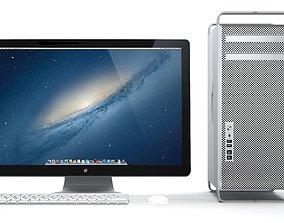 Apple Mac Pro and LED Cinema Display 3D model