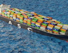 3D ASC Qaitbay container ship