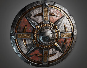 Ancient Warriors Shield 01 TRS - PBR Game Ready 3D model