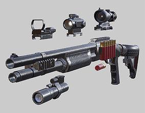 animated 3DRT - Modern firearms HD - Remington 870