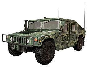 3D model Humvee Military M1151