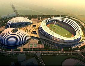 3D Grand Stadium with Posh Exterior