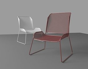 3D model VR / AR ready chair conserve
