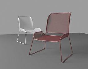 3D model VR / AR ready chair conserve