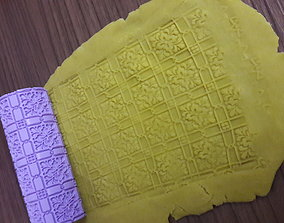3D print model Repeating clay-polimer clay-cookie pattern