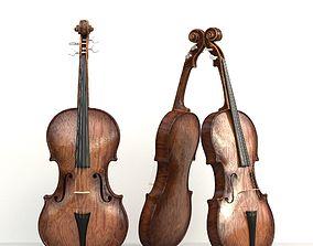 3D model Violin Stradivari