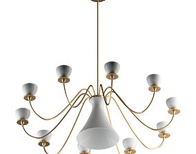 3D White And Gold Pendant Lamp
