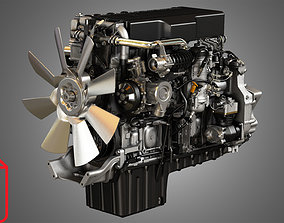 3D DD15 Heavy Duty Truck Engine - Photo Render Package PNG