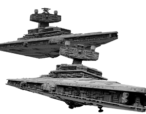 3D Imperial Star Destroyer I and II Star Wars - High 1