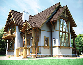 European country house 3D model
