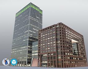 London 25Bank Street JPMorgan Skyscraper 3D model
