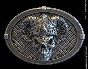 3D printable model demon skull vol4 belt buckle