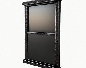 3D asset low-poly Window Model
