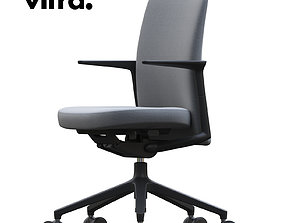 3D Vitra pacific chair low high