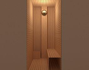 Sauna wood paneling 3D model