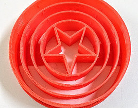 3D printable model Captain America Shield Cookie Cutter