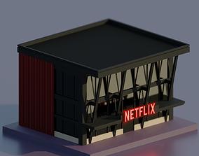 Netflix Movie Theater 3D model
