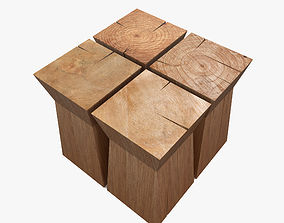 3D asset realtime Wood table