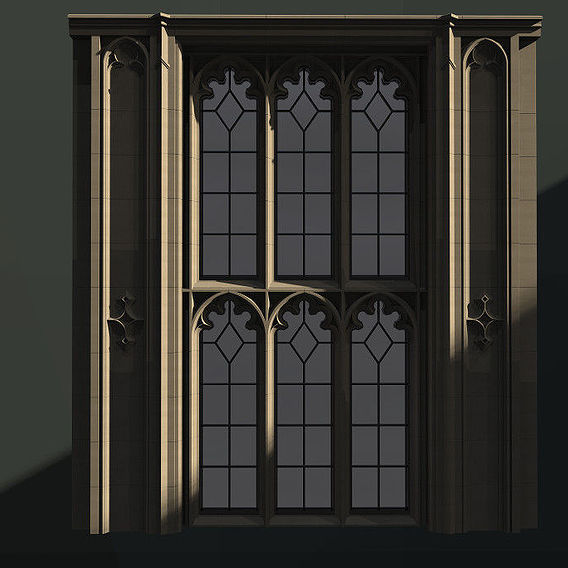WINDOW arch set gothic trefoil 5 pane