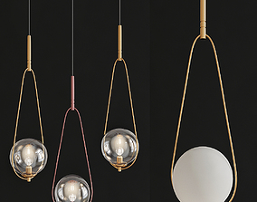 Pendant Lamp Loop Brass 3D asset