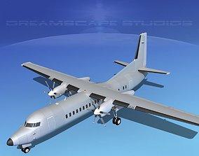 Fokker 50 Bare Metal 3D