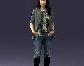 Girl with long hair 0513 3D print model