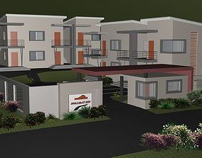 3D model ONE BEDROOM RESIDENTIAL COMPLEX