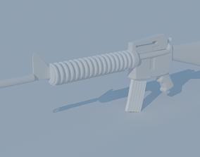 3D model Stylised Assault rifle