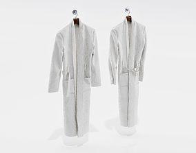 3D model Two white bathrobes