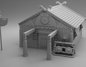 Vikings carved house 3D print model