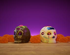 3D model Calaverita de Azucar - Sugar Skulls horror