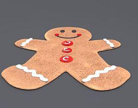 3D gingerbread man winter