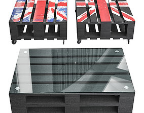 3D Table of pallets Britain