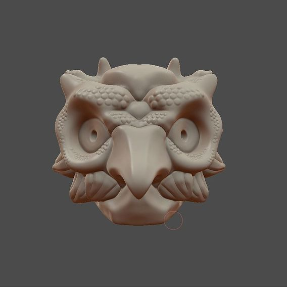 Owl mask ( Work in progress )