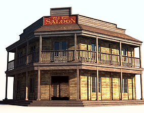 3D model Wild West Saloon