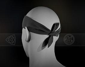 Black Bandana 3D asset low-poly